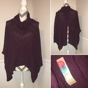 FREE PEOPLE BEACH | open back cowl poncho